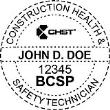BCSP-CHST - Construction Hygiene & Safety Technician Seal