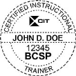 BCSP-CIT - Certified Instructional Trainer Seal