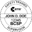 BCSP-STS - Safety Trained Supervisor Seal