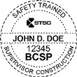 BCSP-STSC - Safety Trained Supervisor Construction Seal